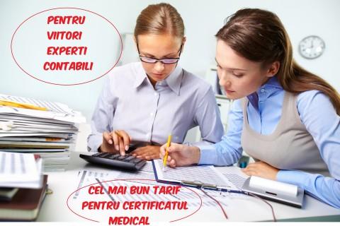 Certificat medical pentru viitori experti contabili
